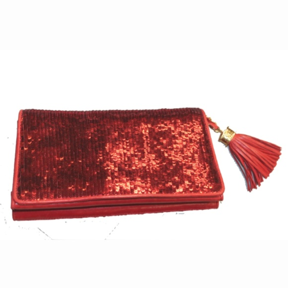 df1d51ac071 CHANEL Bags   Rare Vintage Red Sequin Leather Clutch   Poshmark